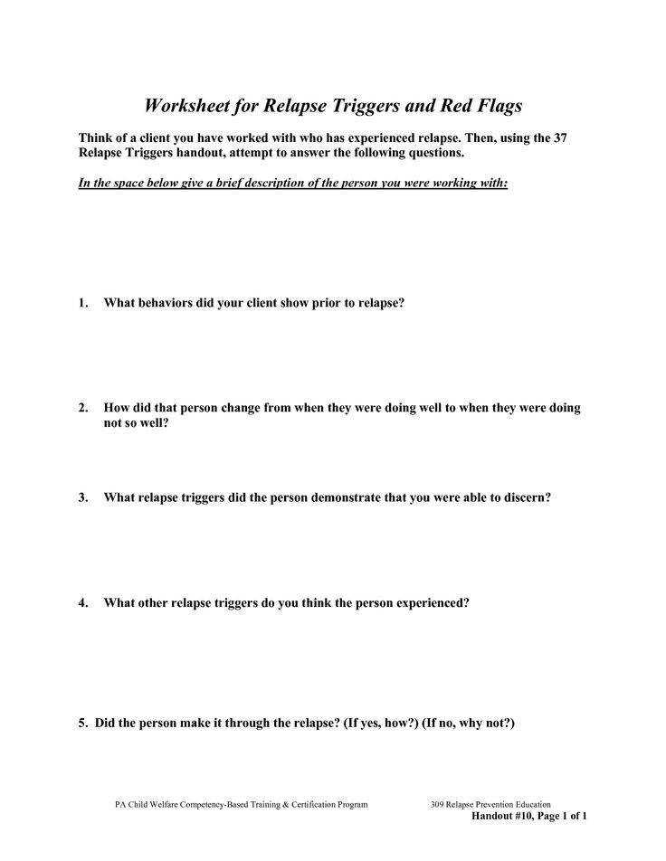 women in recovery worksheets Google Search