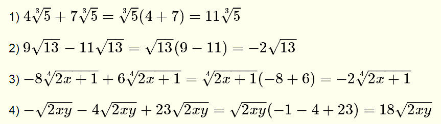 radicals and then adding subtracting equation 5