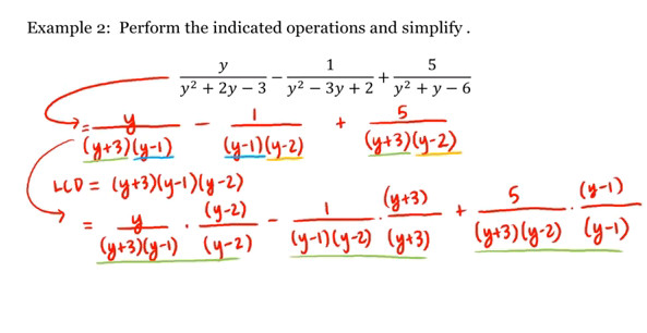 Math 1A 1B Pre Calculus Adding and Subtracting Rational Expressions UC Irvine UCI Open