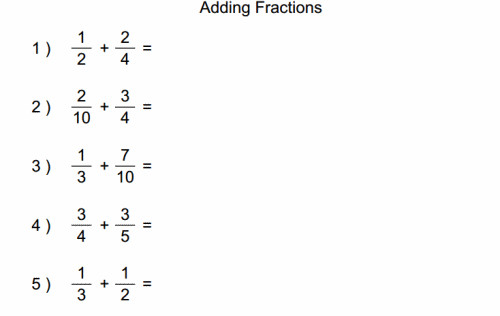 Add fractions with unlike denominators by establishing a mon denominator