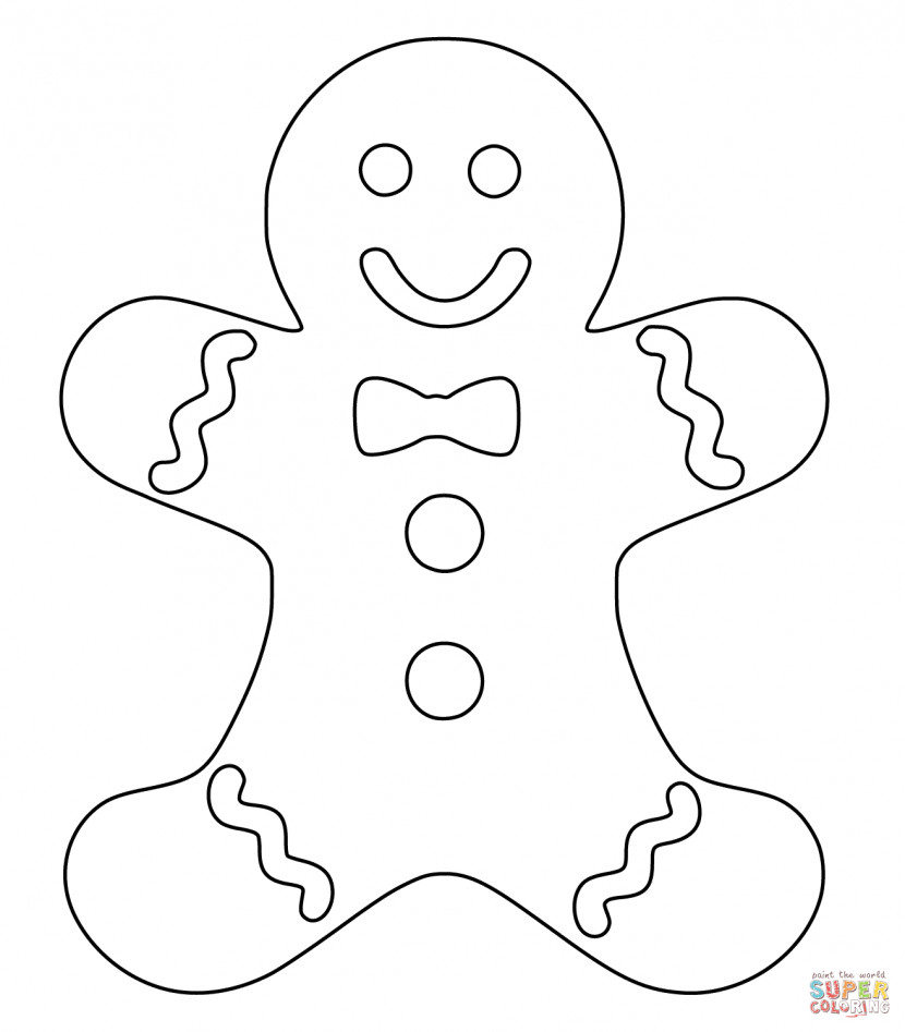 Christmas Gingerbread Man Coloring Page Free Printable Addition Worksheets For First