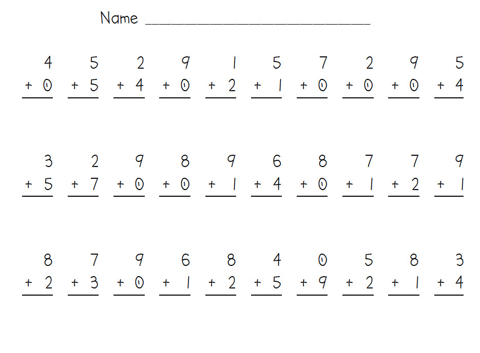 Practice your addition facts to 10