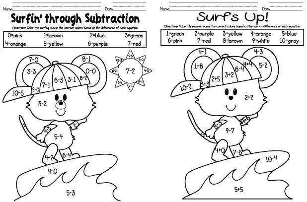 Addition Coloring Pages Free Color By Number 2nd Grade Thanksgiving Math Worksheet First