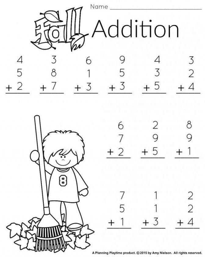 Addition and subtraction practice sheets first grade