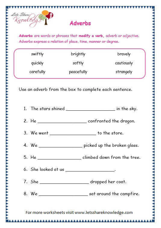 Page 6 page 6 adverbs worksheet