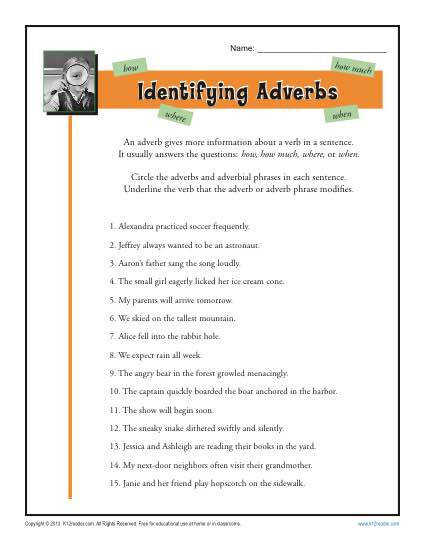 Identifying Adverbs