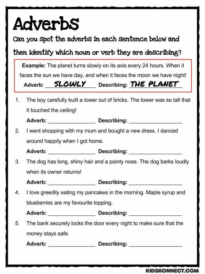 Download the Adverb Worksheet