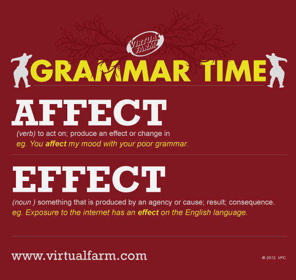 Affect vs Effect Virtual Farm Creative Full Service