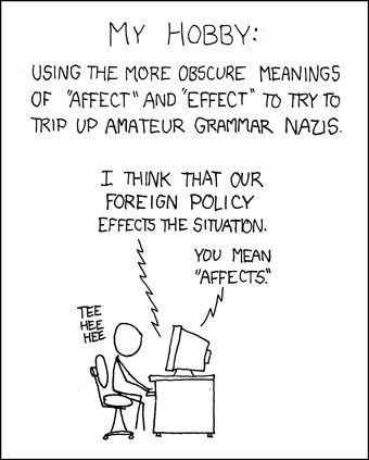 Affect vs Effect xkcd ic
