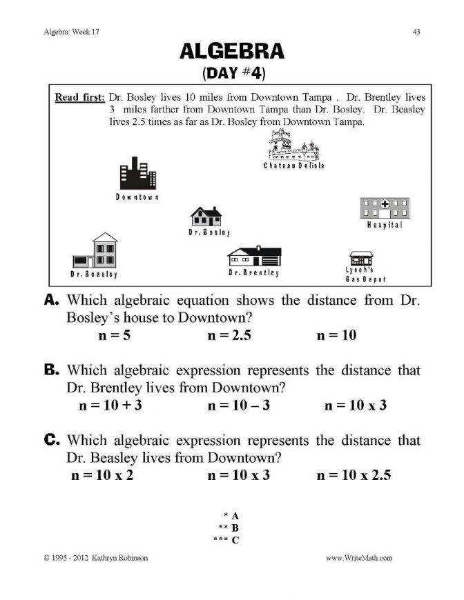 Algebra Practice Worksheets 3rd 4th 5th Grade mon Core Math 2 Final Pdf Math Worksheets Algebra