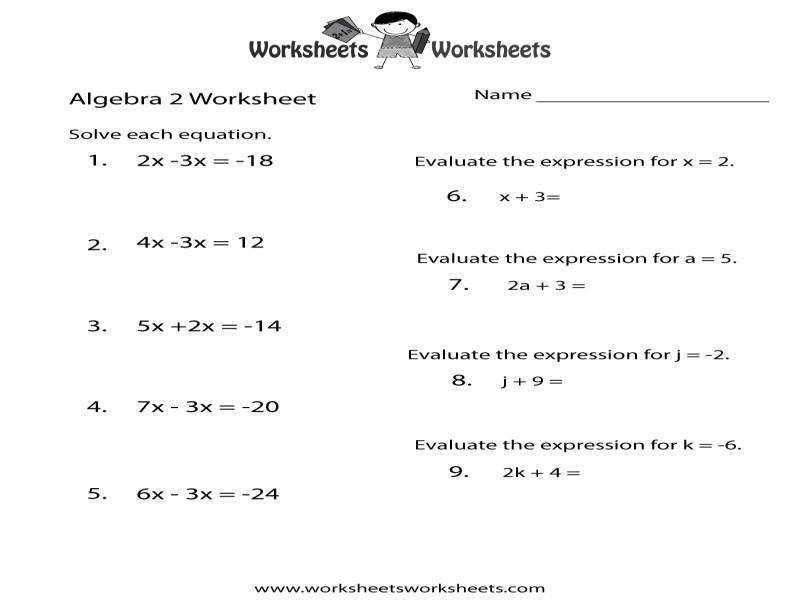 Algebra Review Worksheets | Homeschooldressage.com
