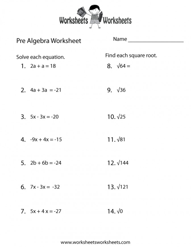 Pre Algebra Practice Worksheet Printable Lessons Pinterest Math Generator Ee4e8a9fb8f7ada21dfa74e01d5 Math Worksheet Generator Algebra Worksheet Medium