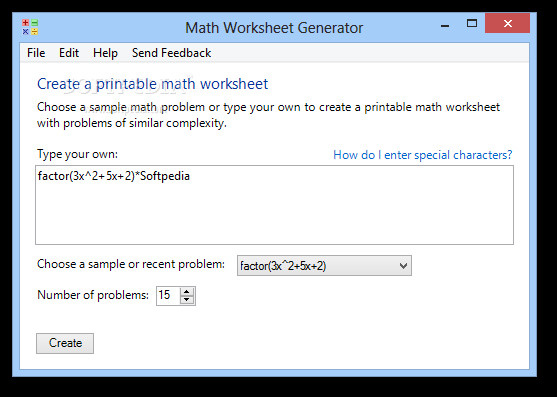 Math Worksheet Generator 1