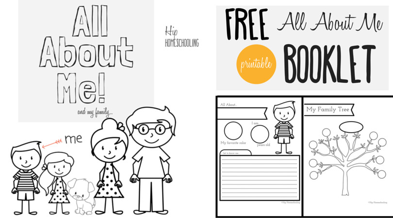 All About Me Worksheet for Kids Free printable all about me booklet for homeschool kids grades K 3 Perfect for Social Stu s and Language Arts 2