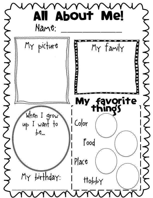 All About Me Poster Freebie have them do at the beginning and end of each school year I remember my kids doing these same posters when they were in