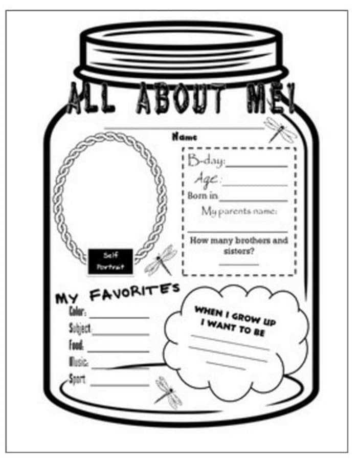 31 Easy and Fun Camping Theme Ideas and Activities all about me mason jar