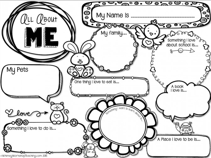 All About Me Free Printable Worksheet Lesson Plans For High School 6bd66f db f494ce All About Me Lesson