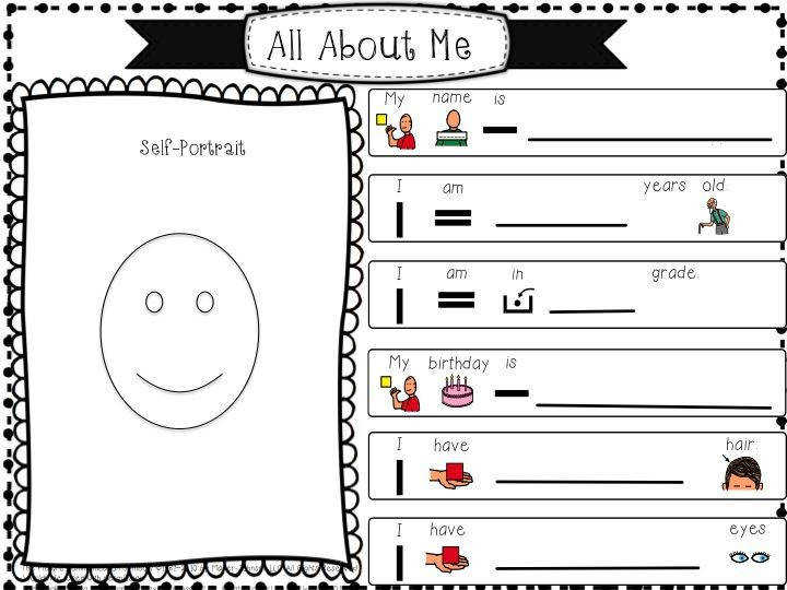 Best 25 All about me worksheet ideas on Pinterest