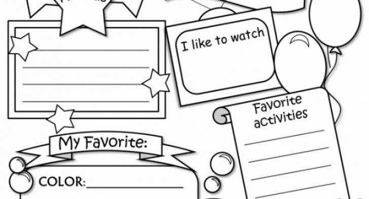 All About Me Coloring Sheets For Preschool Archives Cool
