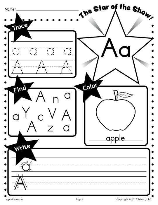 Example of Letter A Worksheet