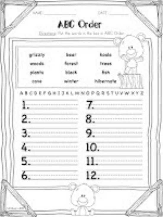 Best Ideas of Alphabetical Order Worksheets Grade 3 In Download