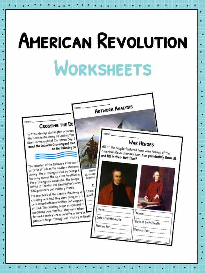 American Revolution Worksheets Homeschooldressage