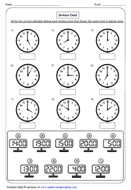 Ideas of Analog Clock Worksheets For Your Layout
