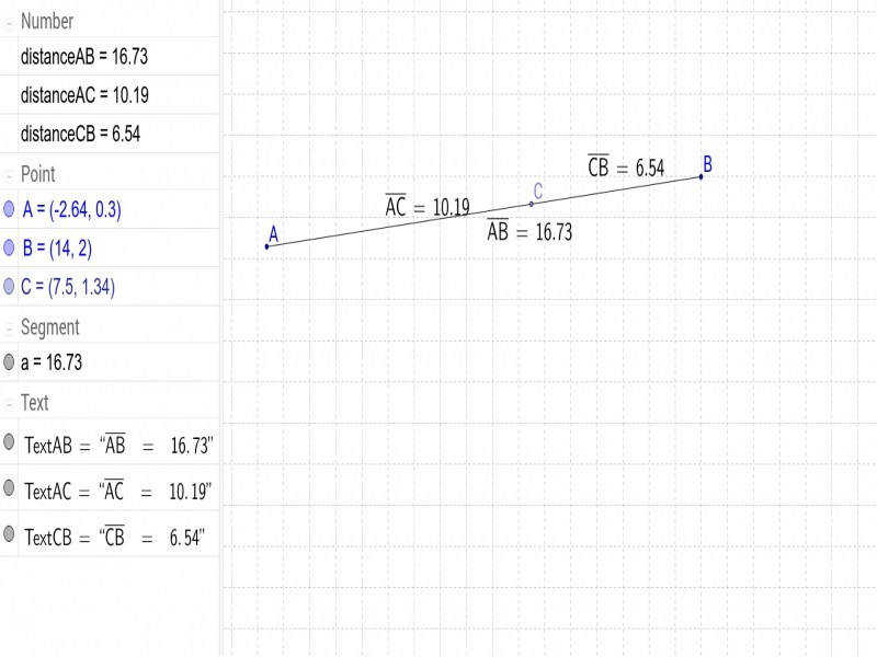 Segment Addition Postulate – Geogebra