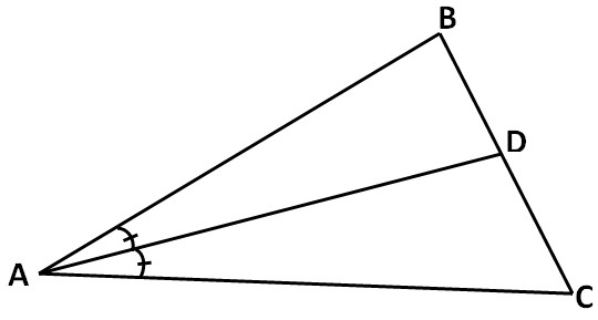 7 In the triangle given below AD is the angle bisector If B = 70° and C = 60° find BAD and DAC