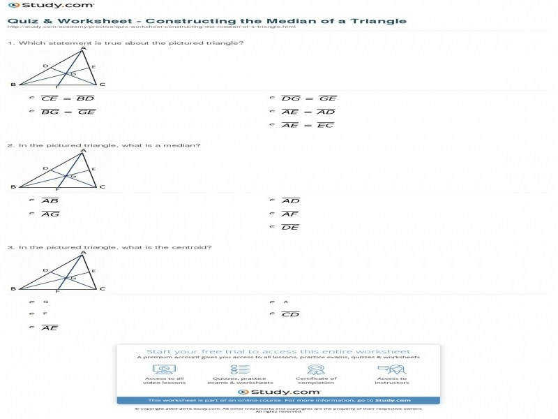 10 photos of the Worksheet Altitude Median Angle Bisector Perpendicular Bisector