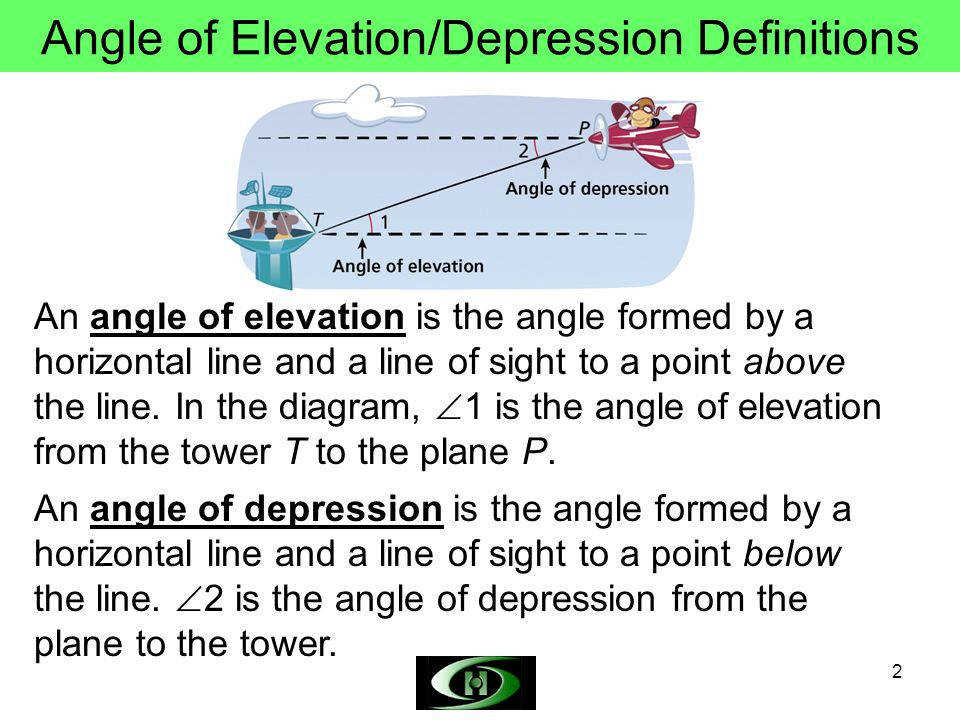 Angle Of Elevation Lesson Plan : Angle of elevation and depression worksheet