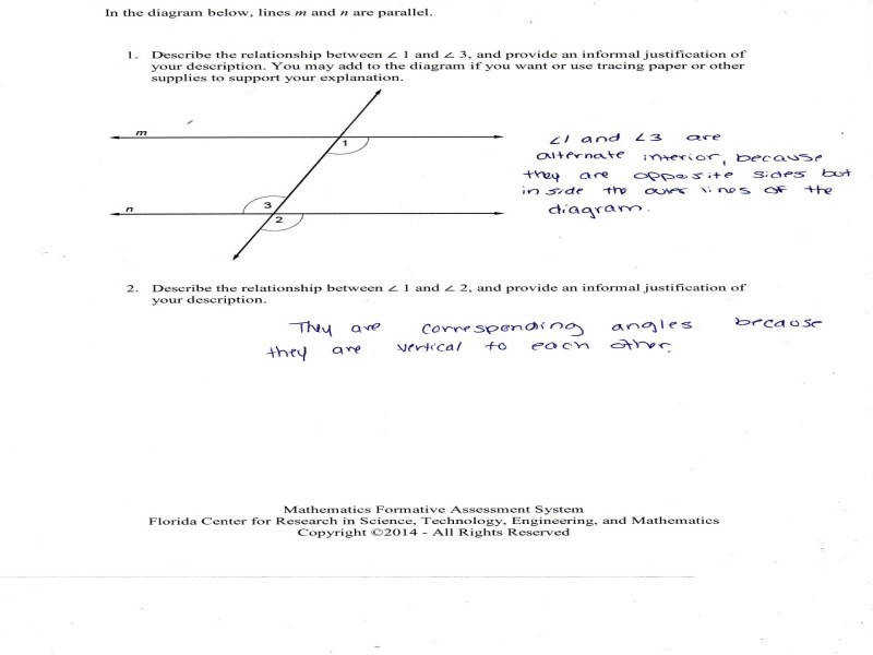 Angle relationships worksheet homeschooldressage justifying angle relationships students are asked to describe and ccuart Choice Image