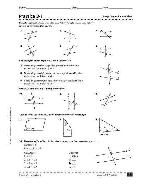 parallel lines worksheet year 7 kidz activities. Black Bedroom Furniture Sets. Home Design Ideas