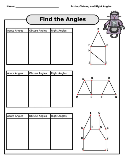 Angles Worksheets · 5th Grade Geometry