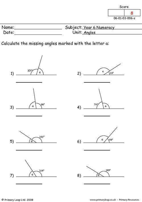 PrimaryLeap Angles 2 Worksheet