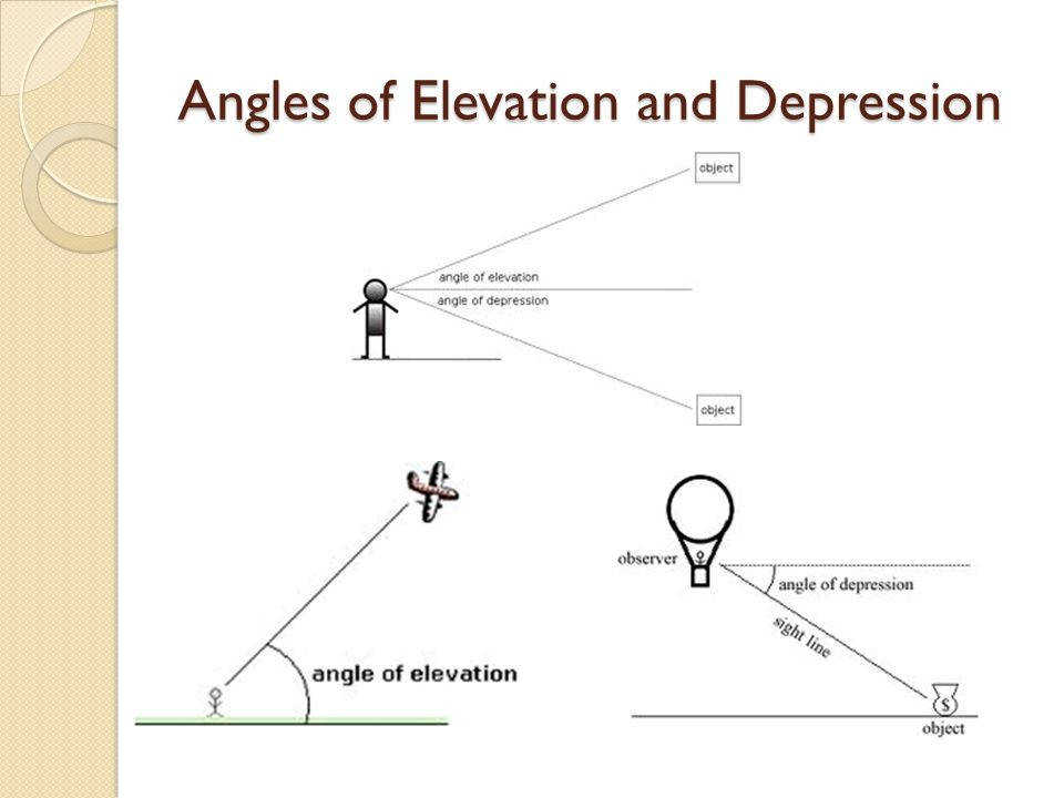 "Presentation on theme ""Angles of Elevation and Depression""— Presentation transcript 1 Angles of Elevation and Depression"