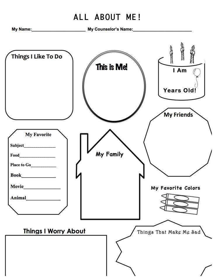 This is a work sheet I designed for when I have a first therapy session with