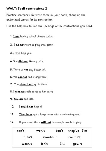 Apostrophes of contraction 4 levels by HelenSQ Teaching Resources Tes