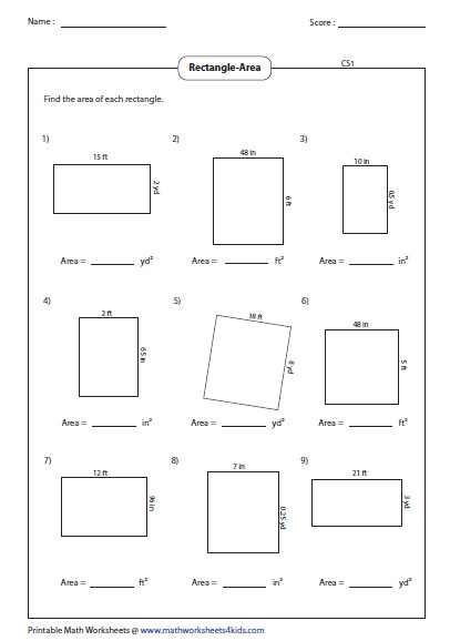 Bunch Ideas of Area And Perimeter Worksheets 5th Grade For Sheets