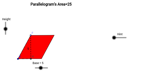 2 What conjecture can you make about the formula for area for a parallelogram