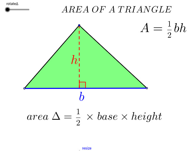 Area of a Triangle View Worksheet