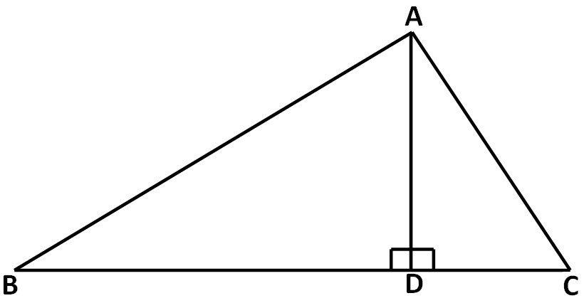 10 In the triangle given below AD = 4 cm and BC = 8 cm find the area of the triangle