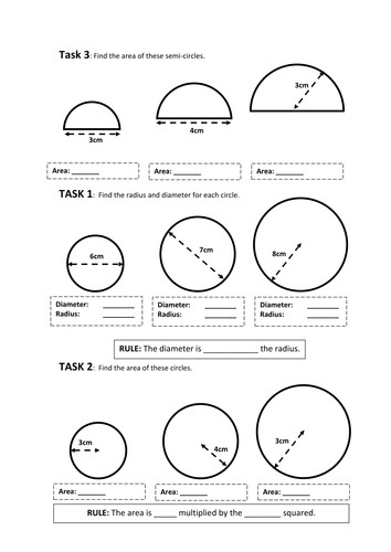 Circles Revision Worksheets KS3 by baconeducation Teaching Resources Tes