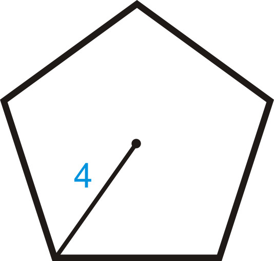 INSERTB In this problem we need to find the apothem and the length of the side before we can find the area of the entire polygon