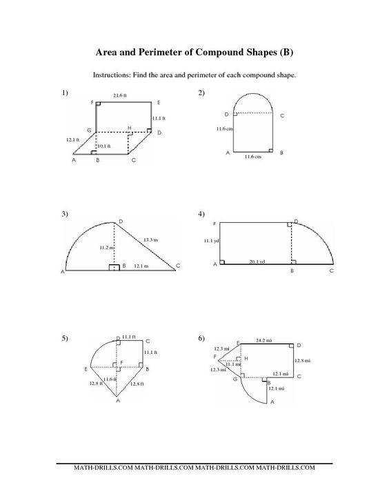pound Area worksheets The Area and Perimeter of pound Shapes BB Measurement Worksheet Area of Polygons Pinterest