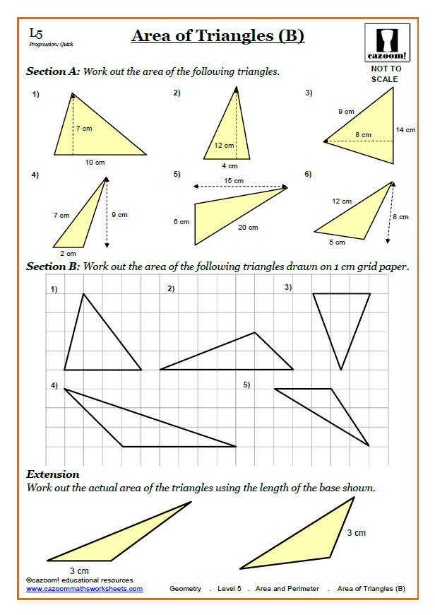 Area Maths Worksheet