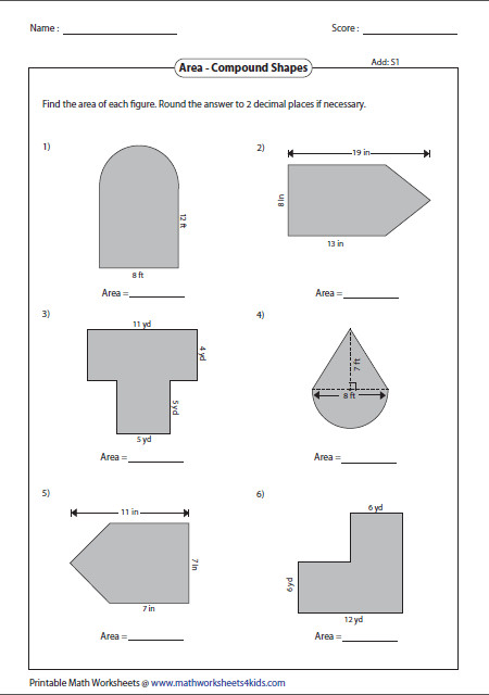 Area of pound Shapes Type 1