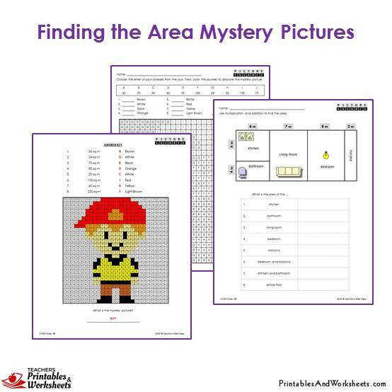 Grade 3 Area Mystery Coloring Worksheets Boy