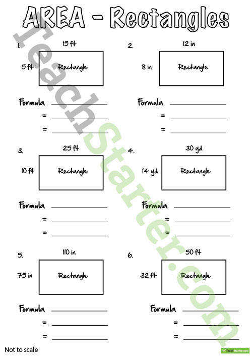 Area Worksheets Teaching Resource