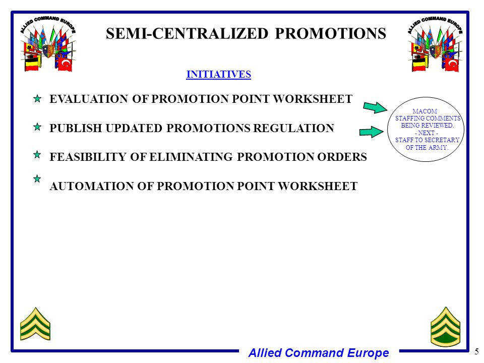 SEMI CENTRALIZED PROMOTIONS